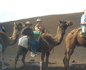 Us on our camel ride.