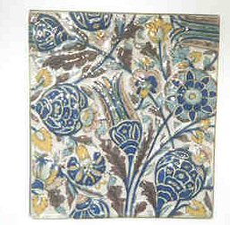 A fancy tile in the Tile Museum.