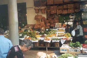 Fruit & vegetable market.